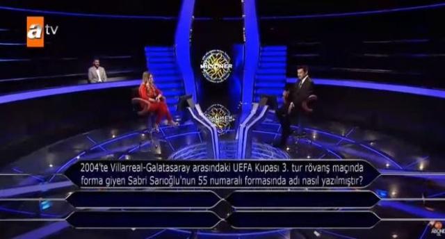 ATV'de haftada iki gün, başarılı oyuncu Kenan İmirzalıoğlu'nun sunumuyla ekranlara gelmeye devam ediyor. 18 Mayıs Pazartesi akşamı ekranlara gelen yarışmada Galatasaray ve Milli takımın eski oyuncusu Sabri Sarıoğlu hakkında bir soru soruldu.