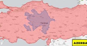 Türkiye ile 30 ülkenin harita üzerinde karşılaştırması.