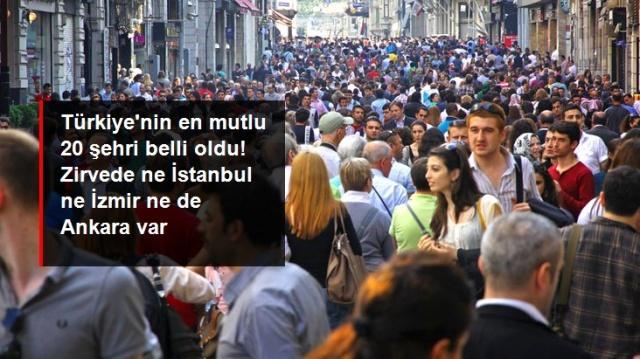 Türkiye İstatistik Kurumu'nun son yayınladığı verilere göre Türkiye'de mutluluk düzeyi en yüksek olan iller açıklandı. Listede yer alan 20 şehir dışında İstanbul, Ankara ve İzmir'in yerleri çok şaşırttı. Zirvenin sahibi ise Karadeniz'in tek doğal limanı olan şehri Sinop oldu.