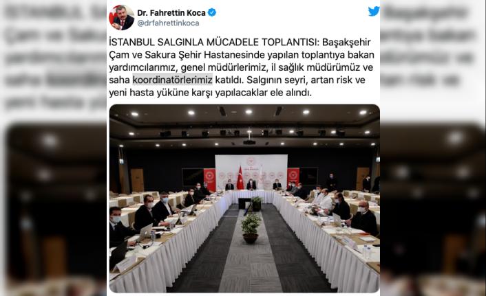 İstanbul'da Bakan Koca başkanlığında salgınla mücadele toplantısı