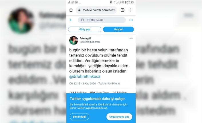 Saldırıya uğrayan hemşire sesini sosyal medyadan duyurmaya çalıştı