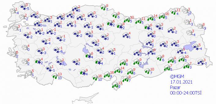 Meteorolojiden il il, bölge bölge 'yoğun kar yağışı' uyarısı