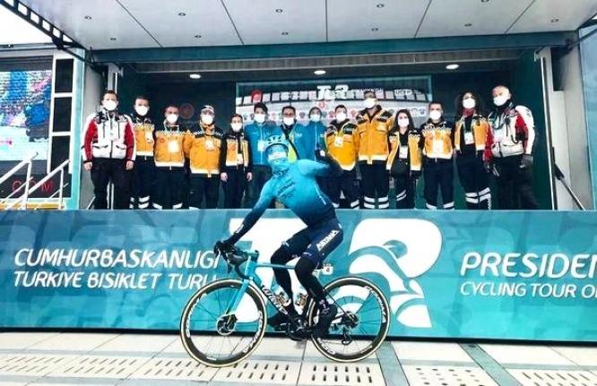Aydınlı sağlıkçılar Cumhurbaşkanlığı Türkiye Bisiklet Turu'nda