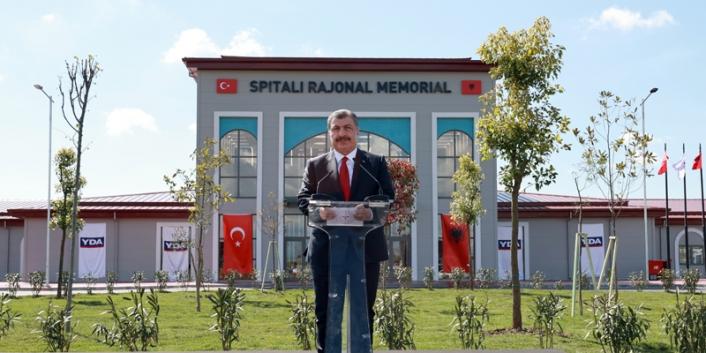 Bakan KOCA Arnavutluk Hastanesi Açılışında Konuştu
