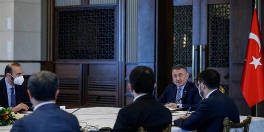 Cumhurbaşkanlığı Külliyesi'nde yerli aşı toplantısı yapıldı