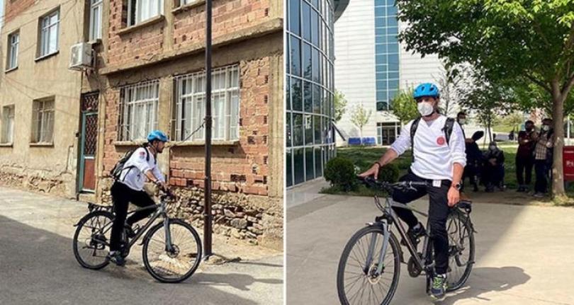'Bisikletli doktor' dendiğinde Ödemiş'te herkes beni tanıyor'