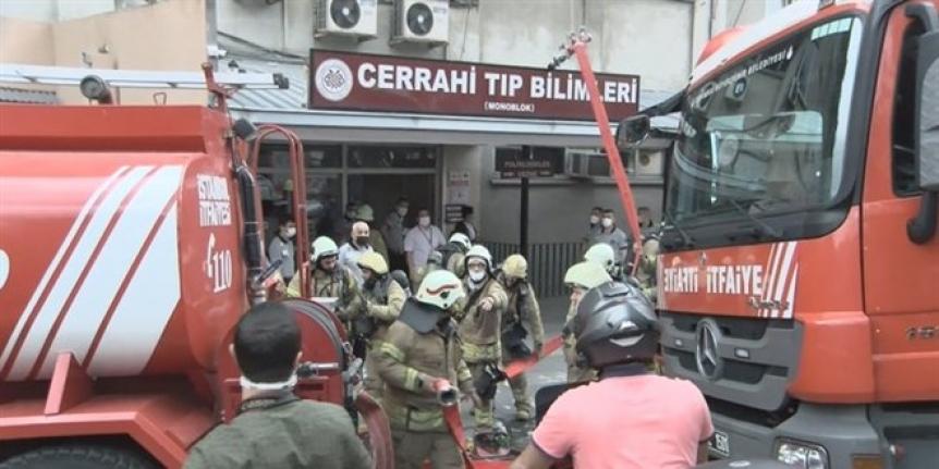 İstanbul Üniversitesi İstanbul Tıp Fakültesi'nde yangın