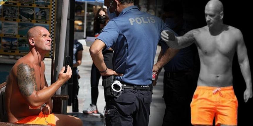 Maske takmayan turistten kadın polise ahlaksız teklif