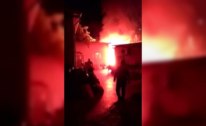 Devlet hastanesi çamaşırhanesinde korkutan yangın