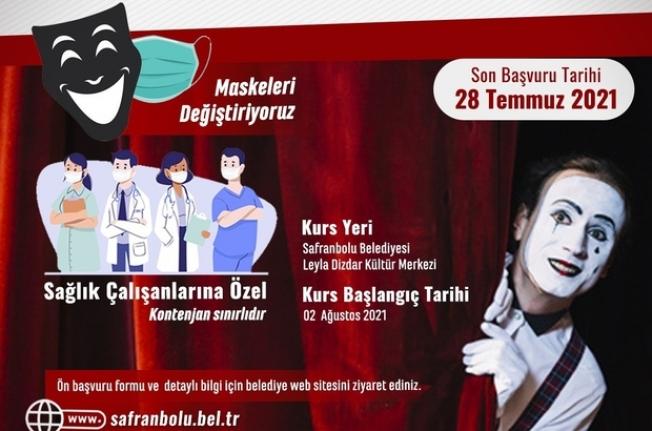 Safranbolu'da tiyatro eğitimlerinde Sağlık Çalışanlarına Kontejyan