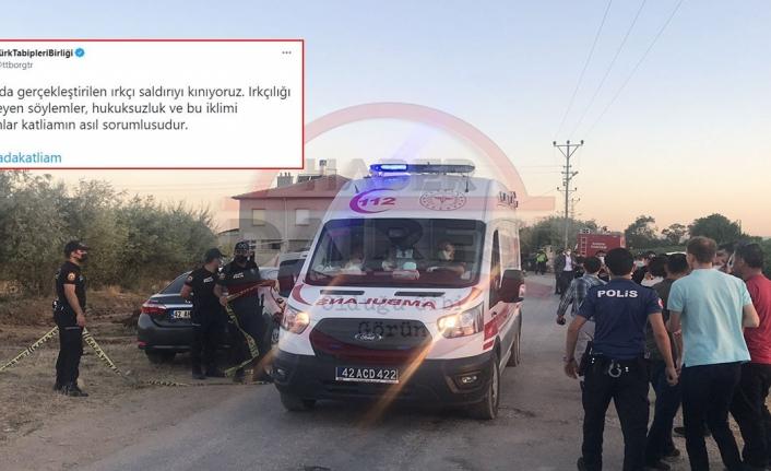 Türk Tabipler Birliği'nden Konya'daki olaya ilişkin skandal paylaşım! Tepki yağıyor
