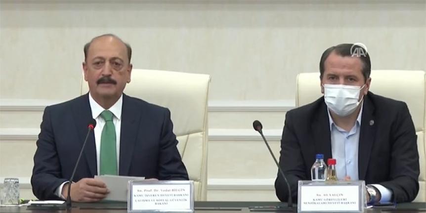 Bakan Bilgin, toplu sözleşme ile ilgili açıklama yapıyor-Canlı