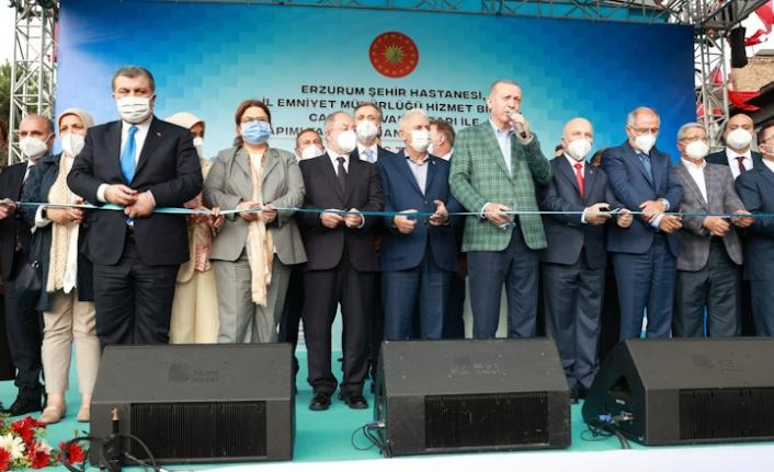 Cumhurbaşkanı Erdoğan, Erzurum Şehir Hastanesi'nin Açılışını Gerçekleştirdi