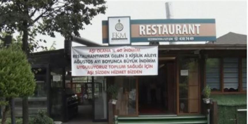 İstanbul'da aşı olanlara restoranda yüzde 40 indirim