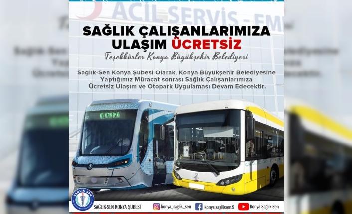 Konya'da Sağlık Çalışanlarına Ücretsiz Ulaşım