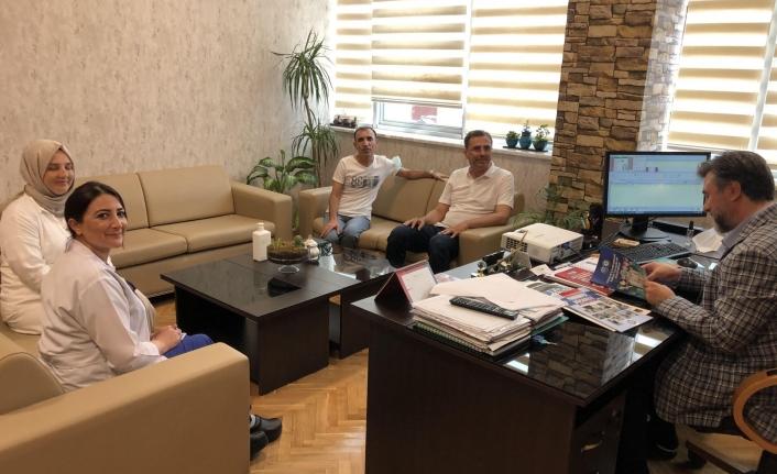 Sağlık-Sen'den Başhekim Küçükyılmaz'a ziyaret