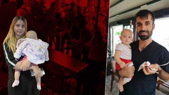 Boğulma tehlikesi geçiren 6 aylık Beren'i öğle yemeğine çıkan doktor kurtardı