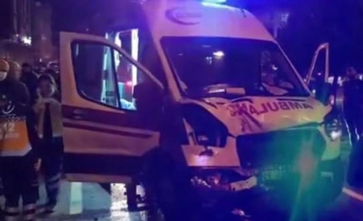 Samsun'da Ambulans Kazası