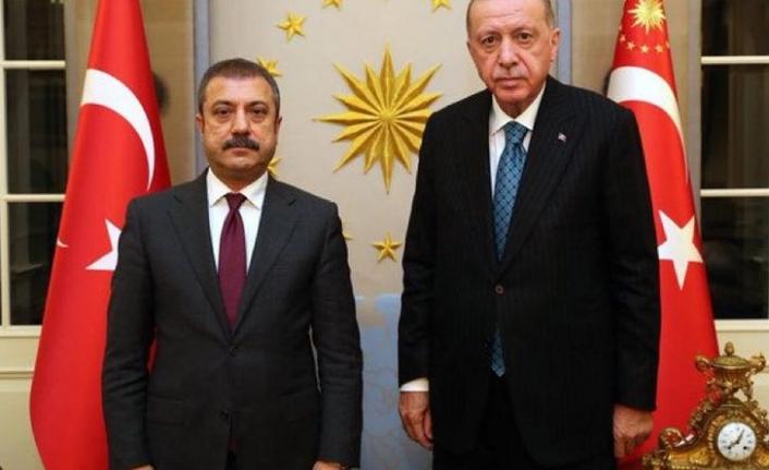 Cumhurbaşkanı Erdoğan, Merkez Bankası Başkanı Şahap Kavcıoğlu'yla görüştü