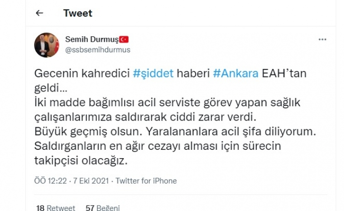 Gecenin Kahredici Haberi Ankara EAH'den Geldi