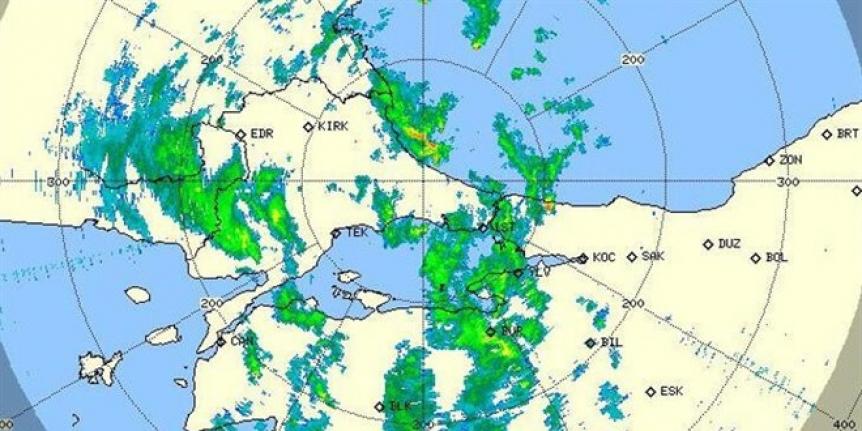 Meteoroloji radar görüntüsünü paylaştı! Kuvvetli yağış geliyor