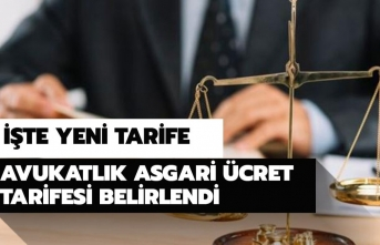 2020 Avukatlık Asgari Ücret Tarifesi