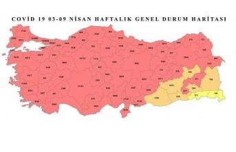 8 İlimiz Hariç Ülke Geneli Kırmızı Oldu