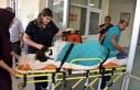 Otomobilin çarptığı hemşire yaralandı