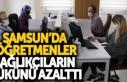 Samsun'da öğretmenler sağlıkçıların yükünü...