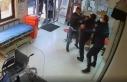 Hastane çalışanlarına saldırı anı kamerada