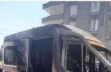 Ambulans Seyir Halinde Alev Aldı