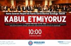 Memur-Sen Genel Merkezi ve 81 ilde basın açıklaması yapacak