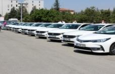 Konya'da kamu araçları İl Sağlık Müdürlüğüne tahsis edildi
