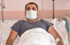 Sağlık görevlis iznini hastanede geçirmek zorunda kaldı