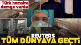 Reuters'ın Fotoğrafına Türk hemşire damga vurdu