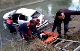 Hemşirenin Kullandığı Otomobil Sulama Kanalına...