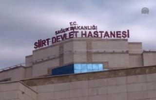 Siirt Devlet Hastanesinde güç kaynağının bulunduğu...