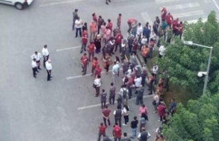 Mersin Şehir Hastanesinde Taşeron İşçiler Eylem...