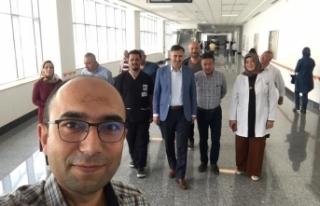 Sağlık Sen Başkanı Ankara Şehir Hastanesinde