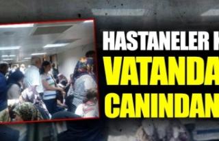 Ankara'da hastaneler kapandı vatandaş canından...