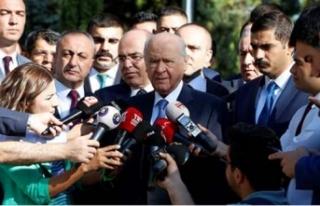 Bahçeli'den 'Erken seçim' açıklaması