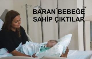 Kazadan yara almadan kurtulan Baran bebeğe doktorlar...
