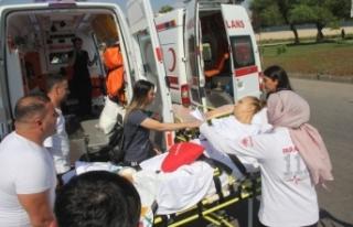 Ambulans kaza yapınca tekrar hastanelik oldu