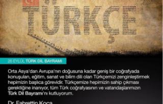 Bakan KOCA'dan Türkçe Paylaşımı