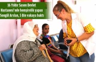 İzmirli Ebe 16 Yıldır Sason'da Çalışıyor