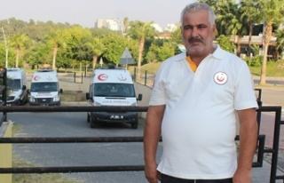 Kaza yapan ambulans şoförü darp edildi
