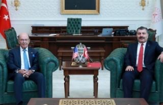 Sağlık Bakanı Koca, ABD Ticaret Bakanı Ross ile...