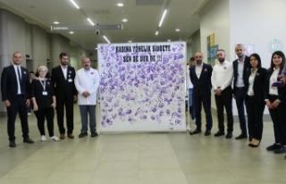 """Yozgat Şehir Hastanesi Ailesi """"Kadına şiddete..."""