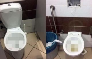 Hastanedeki tuvaletlerde hijyen sıkıntısı