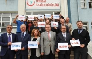 Tekirdağ Sağlık Camiasından Barış Pınarına...